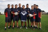 Hallam Senior College's rugby academy - with players from last year's Victorian sides pictured - is off to New South Wales to compete in the GIO Cup for schoolboys. 121430 Picture: JARROD POTTER